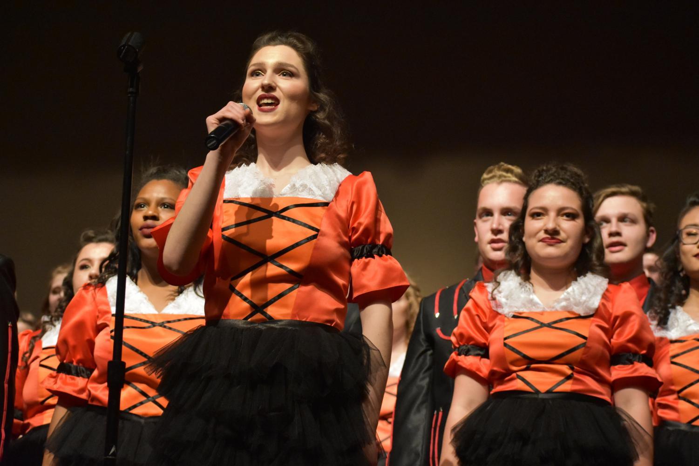 Senior Christine Robino sings Free Spirit's ballad
