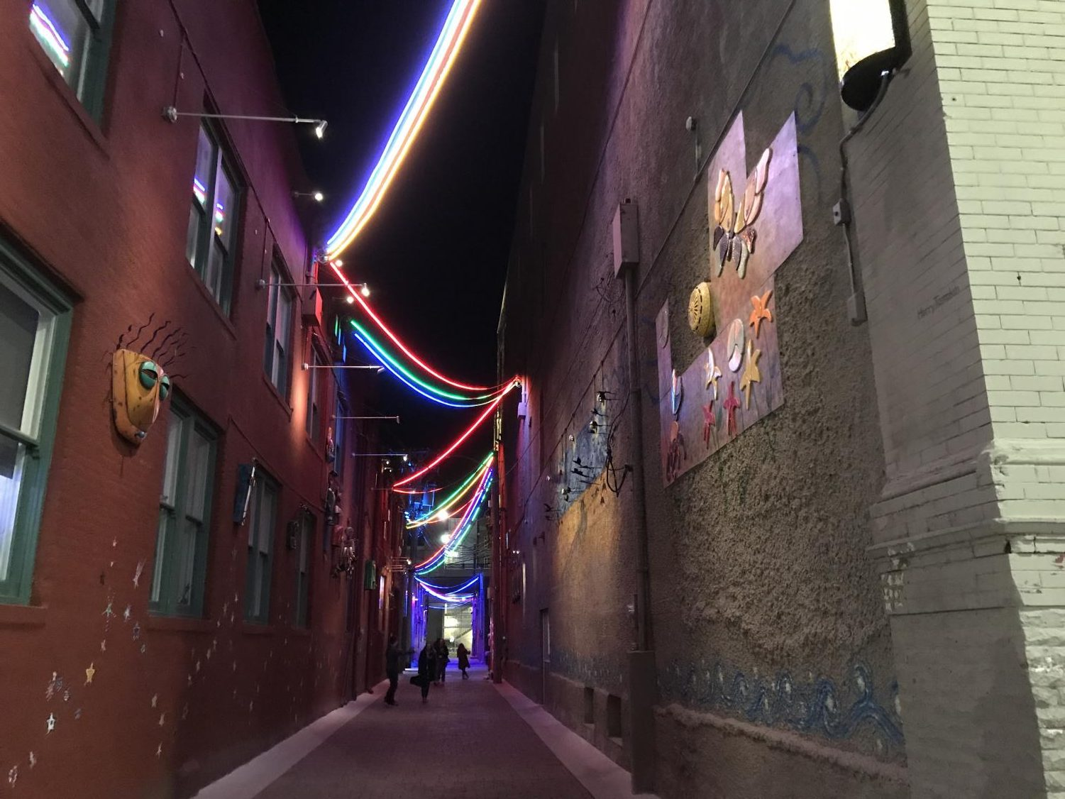These multicolored strings of lights are an iconic spot for memorable pictures in downtown Lincoln. Located right next to Ivanna Cone, many All-State musicians enjoyed their time off by having an ice cream here.