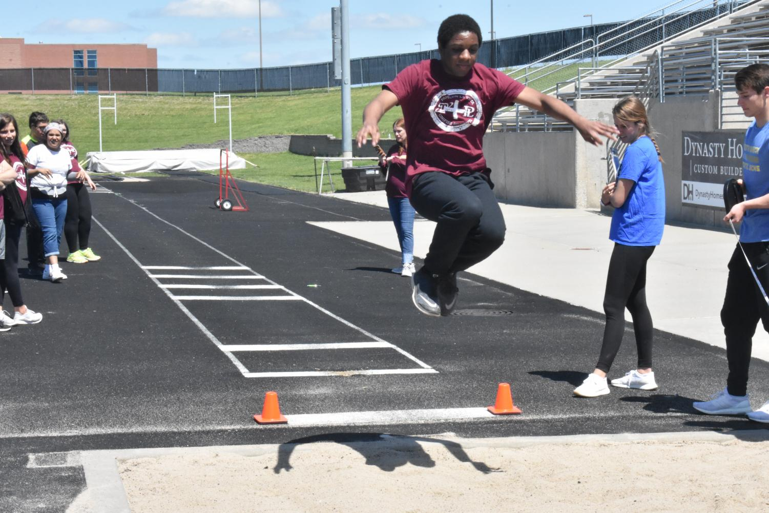 Arieous+Henry+completes+the+high+jump.