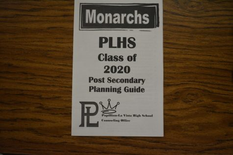 Senior college planning pamphlet handed out to aid PLHS students. Photo taken by Catherine Boatwright