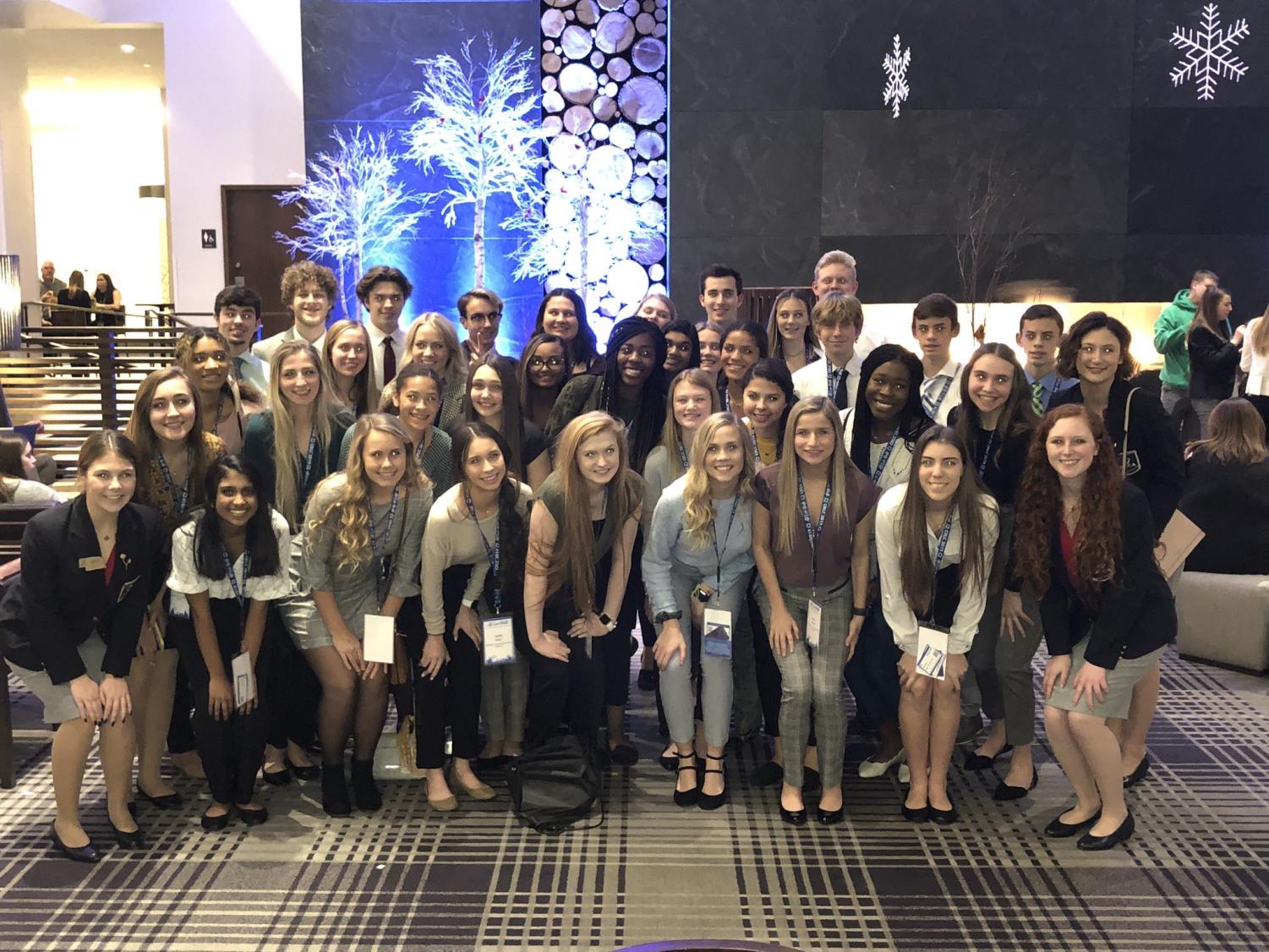PLHS students before attending opening sessions.